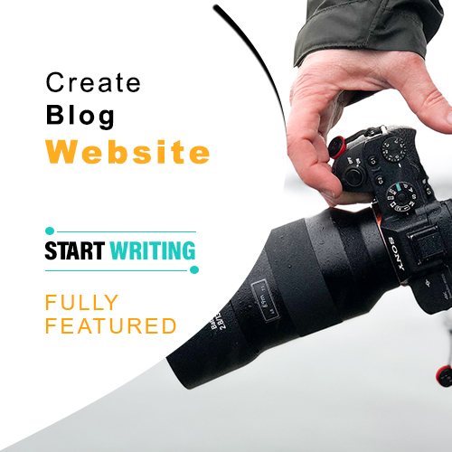 Create Blog Website, start blogging